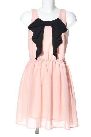 Ichi Chiffonkleid pink-schwarz extravaganter Stil