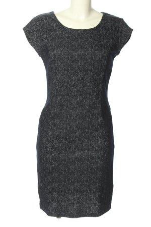 Ichi Etuikleid schwarz-weiß Allover-Druck Business-Look