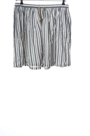 Ichi Glockenrock schwarz-weiß Streifenmuster Casual-Look