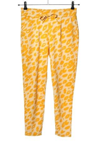 Ichi Pantalón estilo Harem amarillo pálido-crema estampado de leopardo