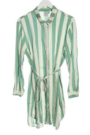 Ichi Hemdblusenkleid grün-wollweiß Streifenmuster Casual-Look