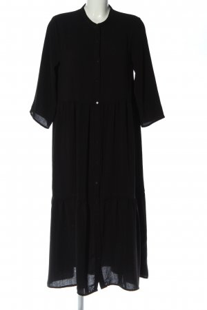 Ichi Vestido tipo blusón negro look casual