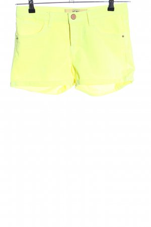 Ichi Hot Pants blassgelb Casual-Look