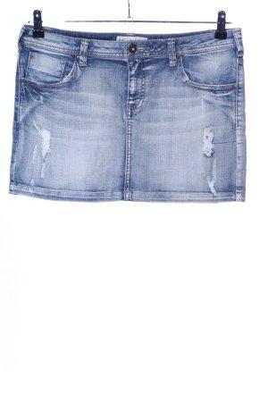 Ichi Jeansrock blau Street-Fashion-Look