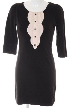 Ichi Jerseykleid schwarz-rosé Street-Fashion-Look