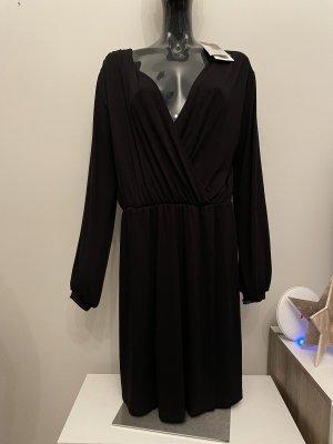 Ichi Vestido de manga larga negro