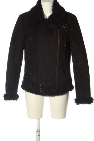 Ichi Giacca in eco pelliccia nero stile casual
