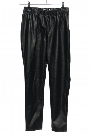 Ichi Faux Leather Trousers black casual look