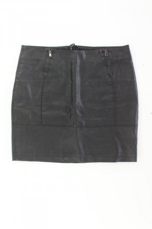 Ichi Faux Leather Skirt black polyester