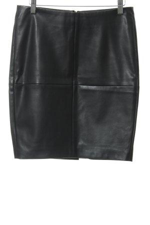 Ichi Kunstlederrock schwarz Casual-Look