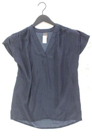 Ichi Kurzarmbluse Größe S blau aus Polyester