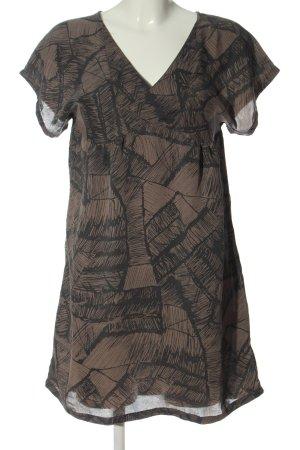 Ichi Sukienka z krótkim rękawem brązowy-czarny Abstrakcyjny wzór