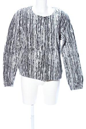 Ichi Kurzjacke schwarz-weiß Streifenmuster Casual-Look