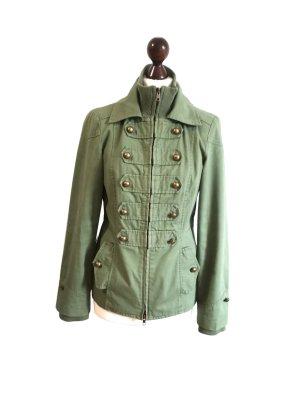 Ichi Military Jacket khaki-gold-colored cotton