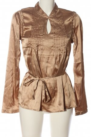 Ichi Langarm-Bluse braun Business-Look