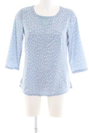 Ichi Langarm-Bluse blau-weiß Casual-Look