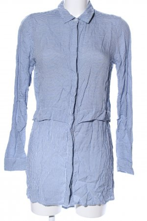 Ichi Long Blouse blue-white striped pattern casual look