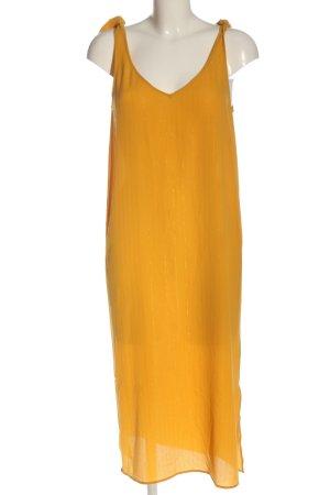 Ichi Robe mi-longue orange clair élégant