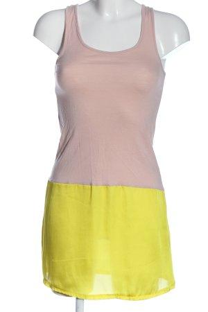 Ichi Minikleid pink-blassgelb Casual-Look