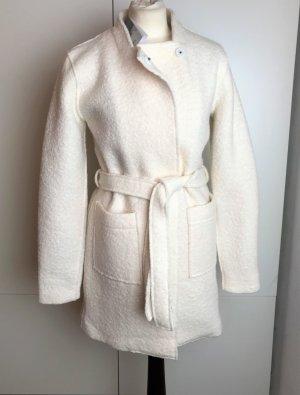 Ichi Abrigo de lana blanco puro-crema Lana