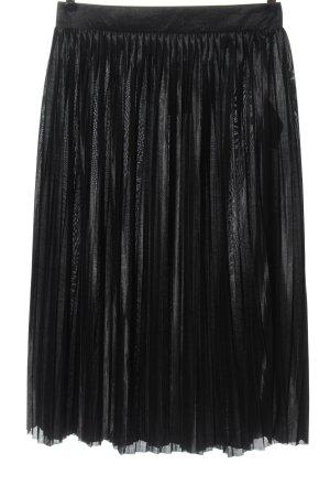 Ichi Falda plisada negro look casual