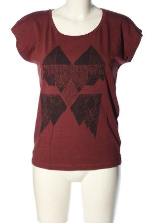 Ichi Print-Shirt rot-schwarz Motivdruck Casual-Look