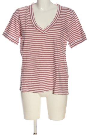 Ichi Camisa de rayas rosa-blanco estampado repetido sobre toda la superficie