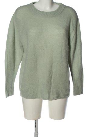 Ichi Sweter z okrągłym dekoltem khaki W stylu casual