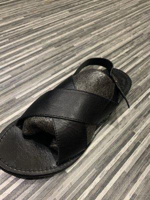 Ichi Sandalias de playa negro Cuero