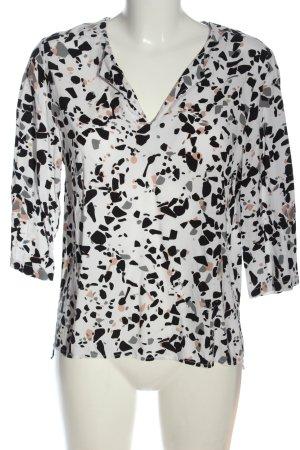 Ichi Schlupf-Bluse abstraktes Muster Casual-Look