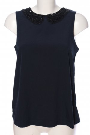 Ichi Seidentop blau Business-Look