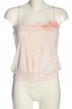 Ichi Spaghettibandtopje wit-roze volledige print casual uitstraling