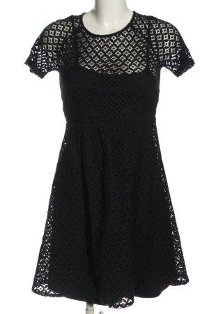 Ichi Koronkowa sukienka czarny W stylu casual