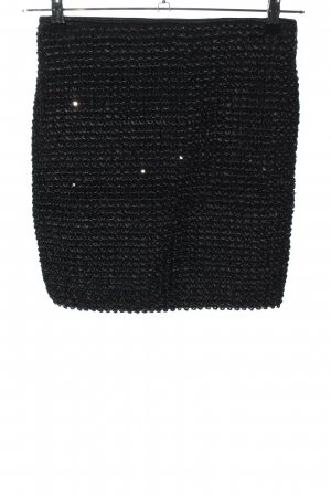 Ichi Spitzenrock schwarz Casual-Look