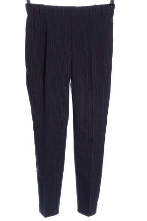 Ichi Jersey Pants blue striped pattern casual look