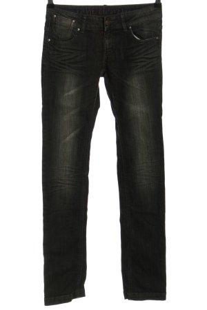 Ichi Straight-Leg Jeans hellgrau meliert Casual-Look