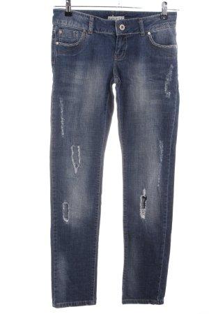 Ichi Straight-Leg Jeans blau Casual-Look