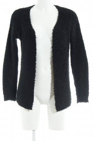 Ichi Strick Cardigan schwarz Casual-Look