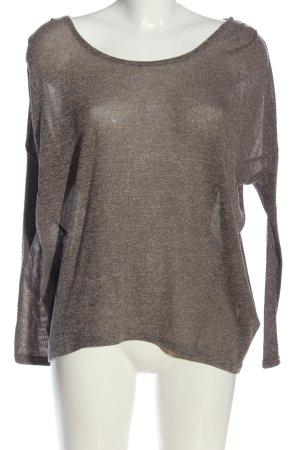 Ichi Camicia maglia grigio chiaro puntinato stile casual