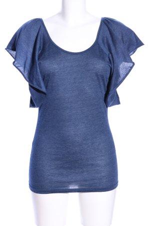 Ichi T-Shirt blau meliert Casual-Look