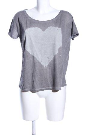 Ichi T-Shirt hellgrau meliert Casual-Look