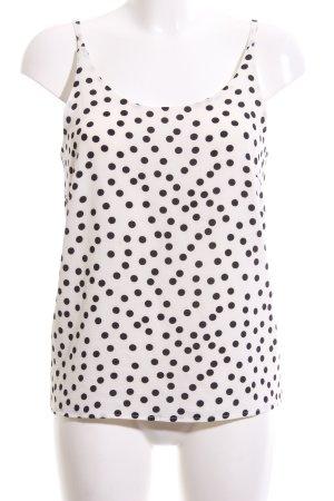 Ichi Trägertop schwarz-weiß Punktemuster Casual-Look
