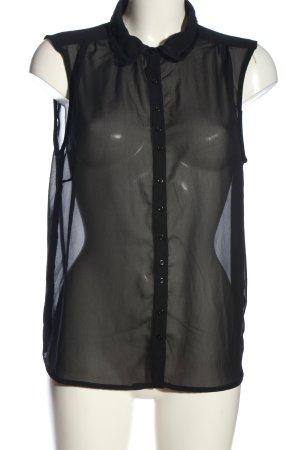 Ichi Blouse transparente noir style d'affaires