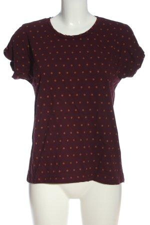 Ichi U-Boot-Shirt rot-hellorange Allover-Druck Casual-Look
