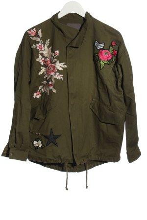 Ichi Kurtka przejściowa khaki Wzór w kwiaty W stylu casual
