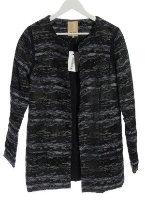 Ichi Übergangsmantel schwarz abstraktes Muster Casual-Look