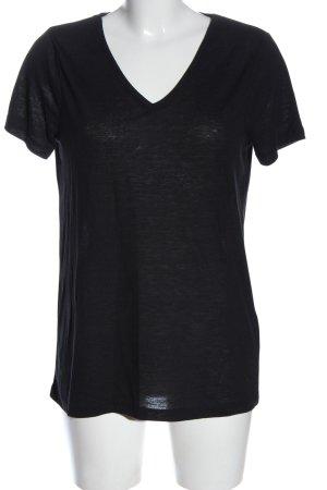 Ichi Camisa con cuello V negro look casual