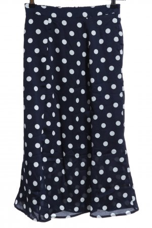 Ichi Flounce Skirt dark blue-natural white spot pattern casual look