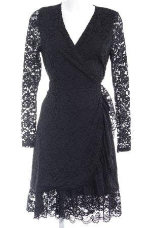 Ichi Wickelkleid schwarz Elegant
