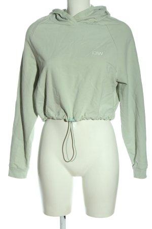 ICIW Sudadera con capucha gris claro-verde look casual